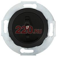 880708-1 - Выключатель поворотный (переключатель на 2 направления - схема 6) 10 A, 250 B (черный) Vintage.