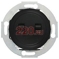 882408-1 - Переключатель 2-рычажковый, c двух мест (схема 6+6) 10 A, 250 B (черный) Vintage.