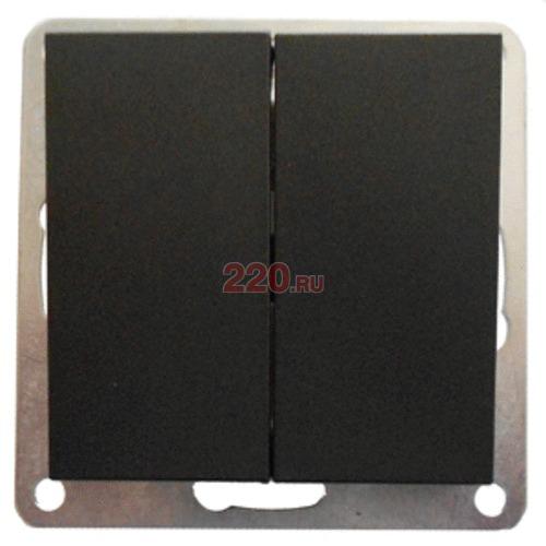 841308-1 - Переключатель 2-кл., с двух мест (схема 6+6) 16 A, 250 B (черный бархат) FLAT.