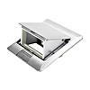 Лючок в пол под розетки «антивандальный» на 2 поста (45х45 мм) = 4 модуля (45х22,5 мм), цвет «алюминий», материал — сталь, LUK/2AL, Экопласт - 70021