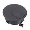 Лючок в пол под розетки на 2 поста (45х45 мм) = 4 модуля (45х22,5 мм) с суппортом, пластик, LUK/2, Экопласт - 70022