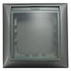 Рамка универсальная защитная с крышкой для выключателей и розеток IP44 (сереб.металлик) LK60 - 869103