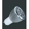 Светодиодная лампа, GU10, Напряжение: AC90-260 V, 4 x 1 W, Угол излуч.: 40 град., Цветовая температура: 4000 K, упаковка 5 шт. - DN-04-0004-16281-LD