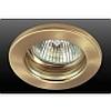 Точечный светильник неповоротный, лампа MR16, цоколь GU5.3, мощность max 50w, напряжение 12 В, сатин.латунь - DN-50.1151N
