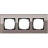 Рамка тройная GIRA Esprit дымчатое стекло, Гира Эсприт - G0213122