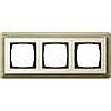 Рамка тройная Gira ClassiX бронза/кремовый, System 55 (Гира Классик) - G0213623