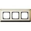 Рамка тройная Gira ClassiX латунь/кремовый, System 55 (Гира Классик) - G0213633