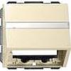 Накладка с опорной пластиной для розеток средств связи глянцевый кремовый, Gira System 55 - G087001