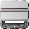 Накладка с опорной пластиной для розеток средств связи алюминий, Gira System 55 - G087026