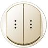 Клавиша двойная с 2-ной точечной индикацией, сл. кость, выключателя (переключателя, кнопки) двухклавишного, Legrand Celiane - LN-066211
