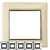 Рамка 5-ая горизонт. Legrand Valena Крем/Золото - LN-774155