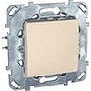 Одноклавишный кнопочный выключатель бежевый, механизмы Unica Schneider - SCMGU5.206.25ZD