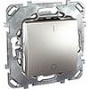 Двухполюсный одноклавишный выключатель 16a алюм, механизмы Unica Schneider - SCMGU5.262.30ZD