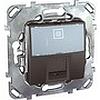 Компьютерная розетка 1хrj45 кат. 5е, с полем для надписи, механизмы Unica Schneider - SCMGU5.421.12ZD