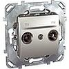 Tv/fm розетка проходная алюм, механизмы Unica Schneider - SCMGU5.453.30ZD