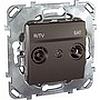 R-tv/sat розетка оконечная, механизмы Unica Schneider - SCMGU5.455.12ZD
