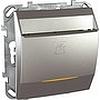 Карточный выключатель с выдержкой времени алюм, механизмы Unica Schneider - SCMGU5.540.30ZD