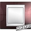 Рамка горизонтальная, 4-ная хамелеон терракотовый/ бежевый, Unica Хамелеон - SCMGU6.008.551