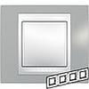 Рамка горизонтальная, 4-ная хамелеон серый/ белый, Unica Хамелеон - SCMGU6.008.865
