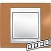 Рамка горизонтальная, 4-ная хамелеон оранжевый/ белый, Unica Хамелеон - SCMGU6.008.869