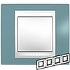 Рамка горизонтальная, 4-ная хамелеон синий/ белый, Unica Хамелеон - SCMGU6.008.873