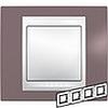 Рамка горизонтальная, 4-ная хамелеон лиловый/ белый, Unica Хамелеон - SCMGU6.008.876