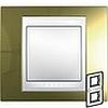 Рамка двойная вертикал золото беж вставк, Unica Хамелеон - SCMGU66.004V.504