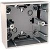 Монтажная коробка для наружной проводки 36 мм, 1 место белый, механизмы Unica Schneider - SCMGU8.002.18