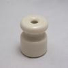Керамические изоляторы для проводки (для наружной проводки на изоляторах — роликах), белые. Цион. - Z24-01