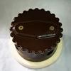 Распаячная коробка керамическая, коричневая глазурь, со светл.подложкой, для наружной ретро проводки. - Z24-55